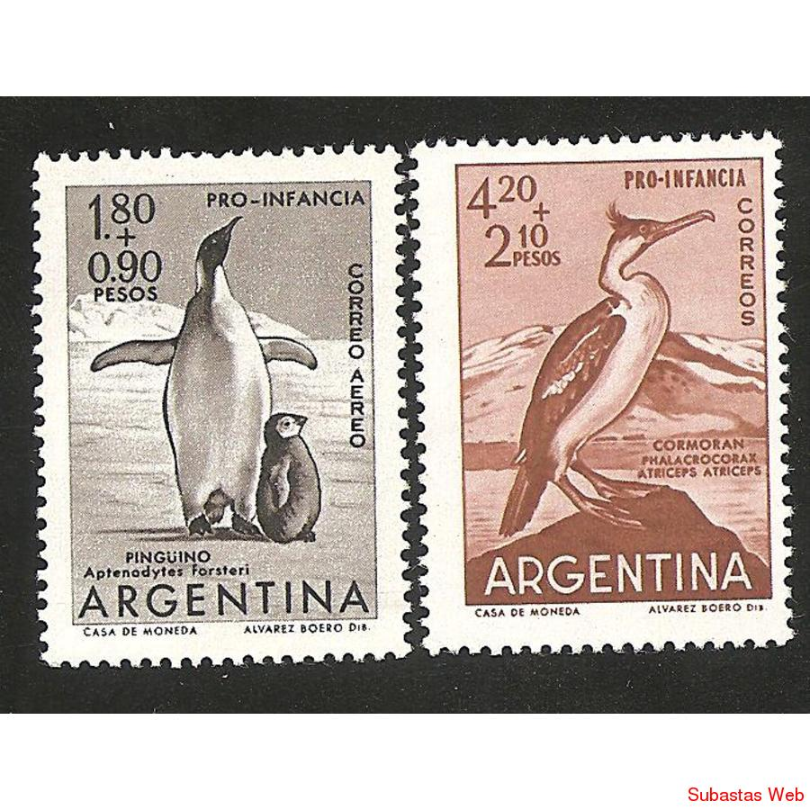 ARGENTINA 1961(635) PRO INFANCIA SERIE COMPLETA