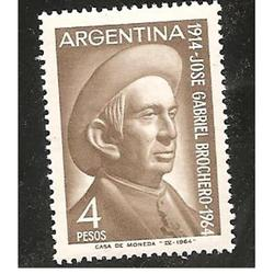 ARGENTINA 1964(686) HOMENAJE AL CURA BROCHERO MINT