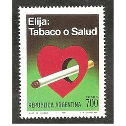 ARGENTINA 1980(1259)  TABACO O SALUD MINT