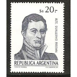 ARGENTINA 1983(1425) CORREO ORDINARIO: BROWN  $a20  MINT