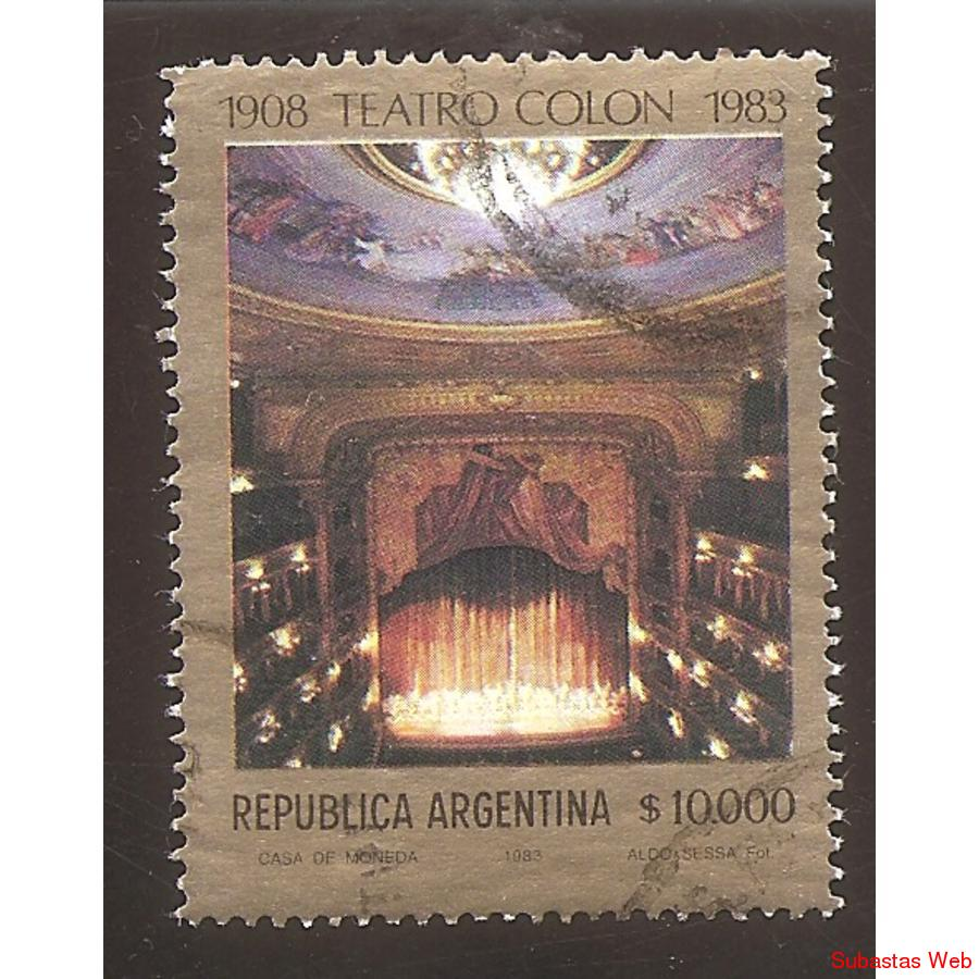 ARGENTINA 1983 (MT1398) TEATRO COLON SELLO 2  USADA