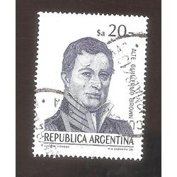 ARGENTINA 1983 (MT1425) CORREO ORDINARIO BROWN  USADA