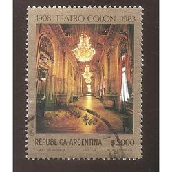 ARGENTINA 1983 (MT1397) TEATRO COLON  SELLO 1  USADA