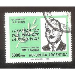 ARGENTINA 1982 (MT1341)  GENERAL SANCHEZ  USADA