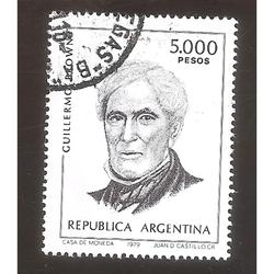 ARGENTINA 1980 (MT1211) CORREO ORDINARIO: BROWN  USADA
