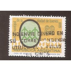 ARGENTINA 1968 (MT826) BANCO CIUDAD BS.AS.  USADA