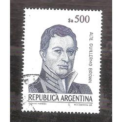ARGENTINA 1985 (MT1510) CORREO ORDINARIO BROWN $a500   USADA