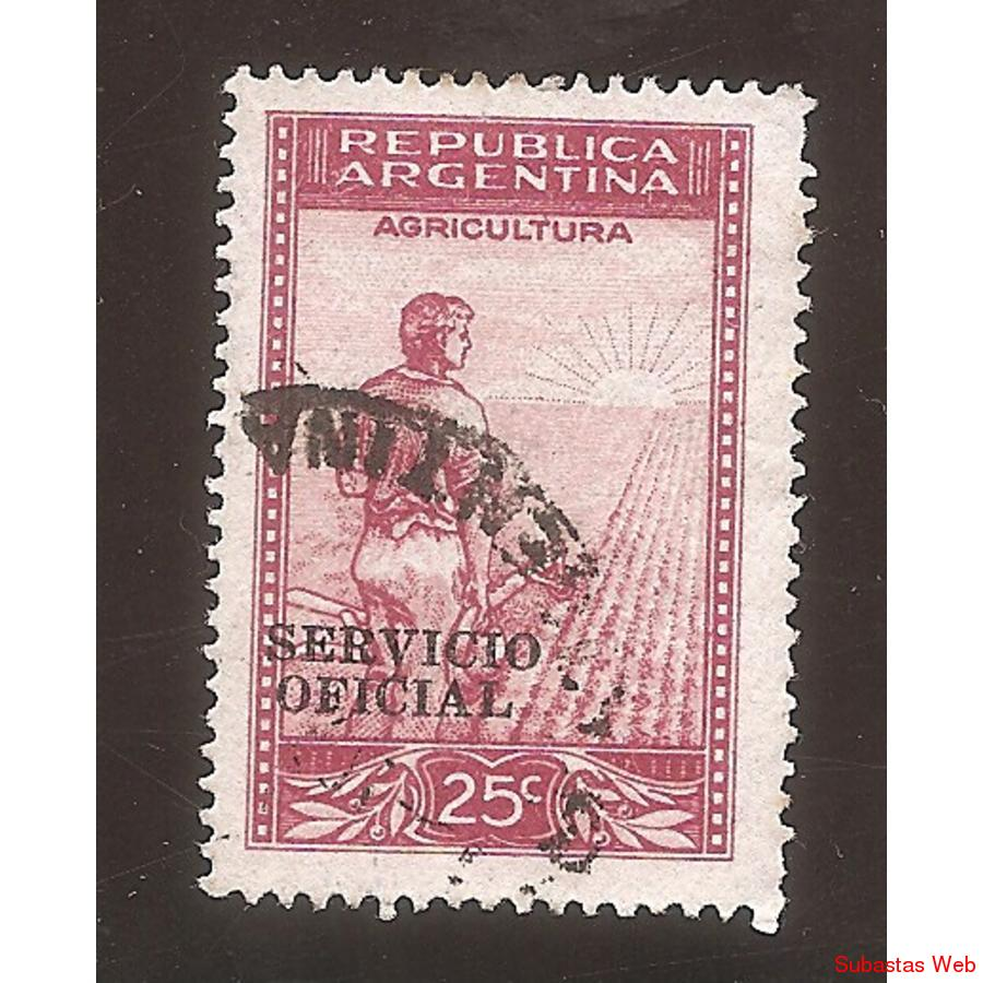 ARGENTINA 1945(MT451-356)  LABRADOR  SINFILI,  SO DE 12mm US