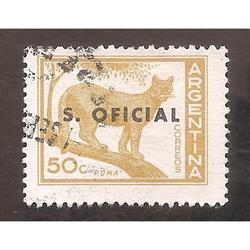 ARGENTINA 1959(MT603A.383) PUMA OFFSET MATE,  SO TIPO VIII