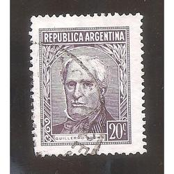 ARGENTINA 1956 (570B) PROCERES: BROWN TIPO III 19,5x25,5  US