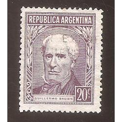 ARGENTINA 1956 (MT570) PROCERS: BROWN TIPO I  20x26,5  USADA