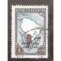 ARGENTINA 1935(MT386-347) MAPA SIN LIMITES  FILI RA, SO 12mm