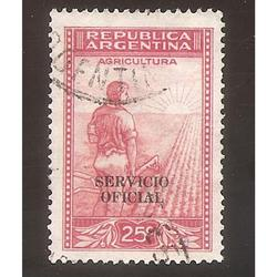 ARGENTINA 1935(MT376-345c) LABRADOR FILI RA RO,  SO  11mm.