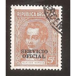 ARGENTINA 1935(MT368I-340b) MORENO TIPOGRAF MATE, SO 12mm US