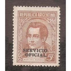 ARGENTINA 1935(MT368-340) MORENO OFFSET MATE, SO 12mm  USADA