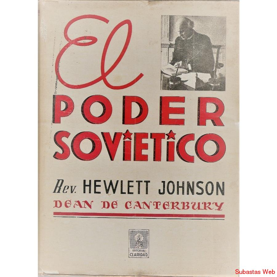 Libro El Poder Sovietico Rev Hewlett Johnson 1941