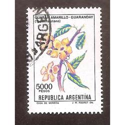 ARGENTINA 1982(1339a) FLORES GUARANDAY VARIEDAD DE COLOR USA