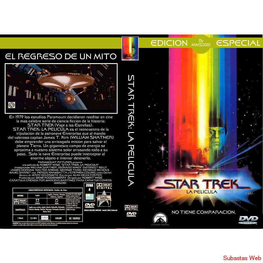 Star Trek Movie Collection Dvd (13dvd) cajas