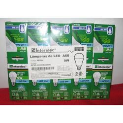 LAMPARAS LED A60 9W INTERELEC 10unidades sfmpili