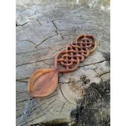 Spoon-amulet made of Apple wood